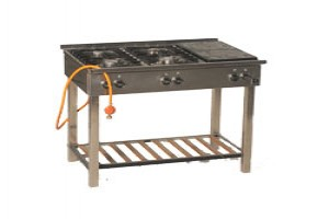 Hedendaags Gasfornuis 4-pits incl. 2 grillplaten, exclusief gas - funfactory IE-92